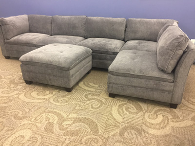 6-PIECE MODULAR<br>FABRIC SECTIONAL