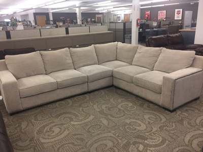 4-PIECE<br>FABRIC SECTIONAL