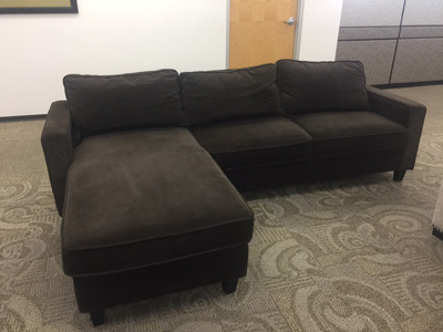 REVERSIBLE FABRIC<br>CHAISE SECTIONAL