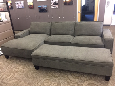 CHAISE SECTIONAL<br>w/ STORAGE OTTOMAN